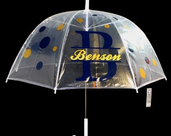Personalized Clear Dome Umbrella - Adult size