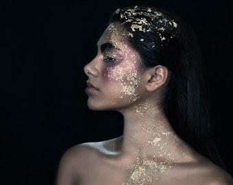 Golden Child in Profile, Fine Art Print