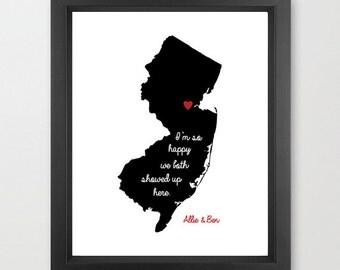 New Jersey (Rutgers) Happy Print