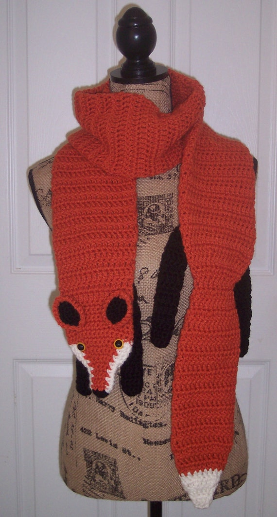 Crocheted Fox Scarf