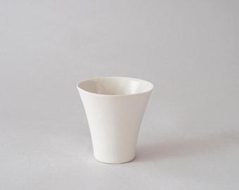 Espresso cup / White porcelain cup / Small ceramic cup  / Modern design