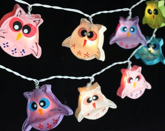 35 Bulbs Owl Paper Lantern String Lights For Home  Decoration,Wedding,Party,Bedroom