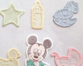 Embroidered Wappen Baby Mickey Disney Japan Iron applique KOKKA