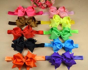 10 pcs Baby Little Girl Hair Bow - baby headband - headband bow - hair accessory -baby girl headband bow - head band for girls H1