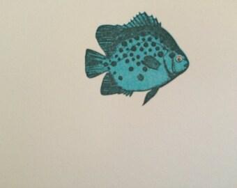 Tropical Fish Letterpress Notecards (set of 10)