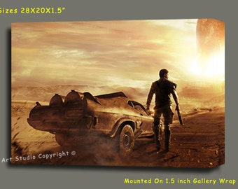 """Mad Max Giclee Art W Gallery Wrap Ready To Hang Size 28X20X1.5"""" & Larger"""