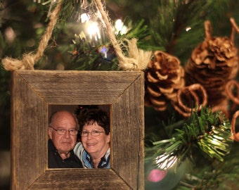 ON SALE!! 25%OFF!! Hand Crafted One of a Kind Barn Wood Christmas Tree Ornament. Fits a 2x2 Picture.