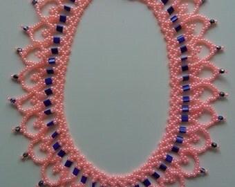 Beaded Necklace Salmon Ceylon