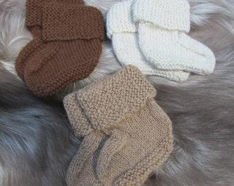 Hand Knit Alpaca Baby Sock Booties
