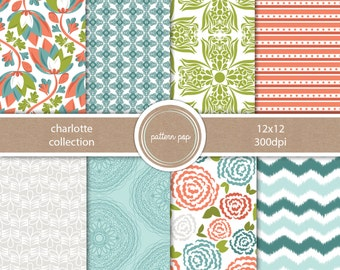 Floral Digital Papers and backgrounds - for personal, photographers or small commercial