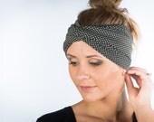Amazing turban style stretchy jersey headband. Turban twist woman headband. Starry Hairband.