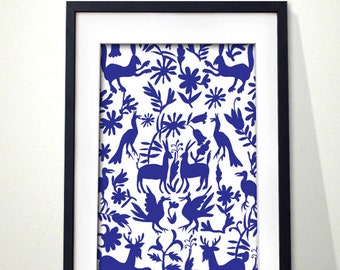 Otomi embroidery inspired digital print.