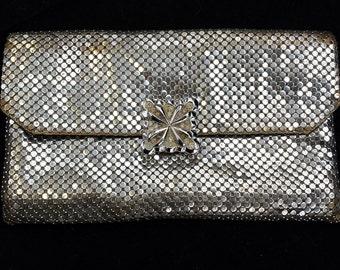 Whiting & Davis vintage metal mesh clutch purse