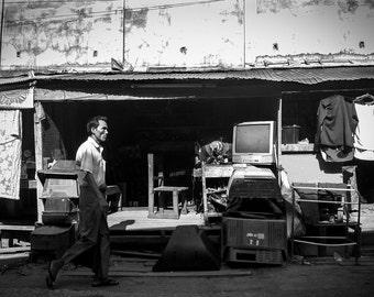 Travel - Photography - Wall Art - Home Decor - Black and White - Myawaddy, Burma
