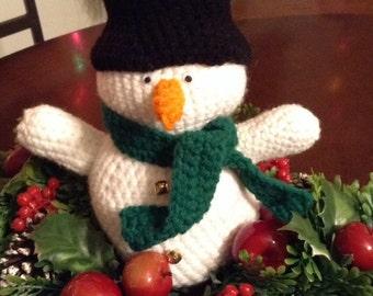 9 inch crocheted snowman