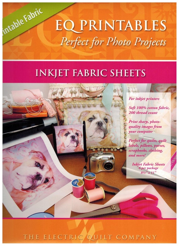 Bright image throughout printable fabric sheets for inkjet printers