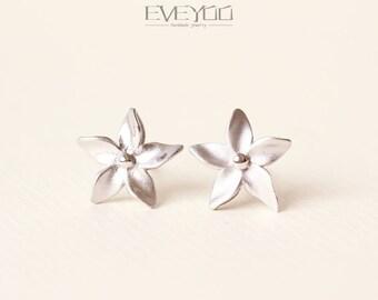 Flowers stud Earrings, Sterling silver Flower stud Earrings,Flower Earrings,Flowers,Mother gift