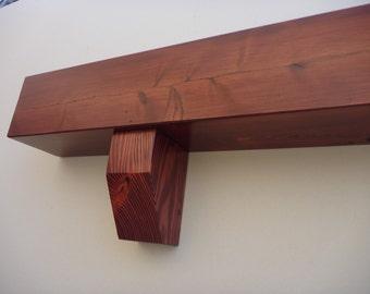 "Fireplace mantel- Mantel-Floating shelf-Fireplace mantle- Shelf ledge.TV Shelf. 60"" Long x 5.5"" Tall x 5.5"" Deep"