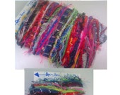 Bundle of Mixed Yarns, Lot of Fiber Samples, 50 different 1.5 OR 3 yard pieces