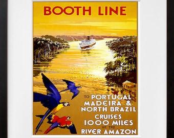 Brazil Art Print Portugal Vintage Travel Poster (TR109)