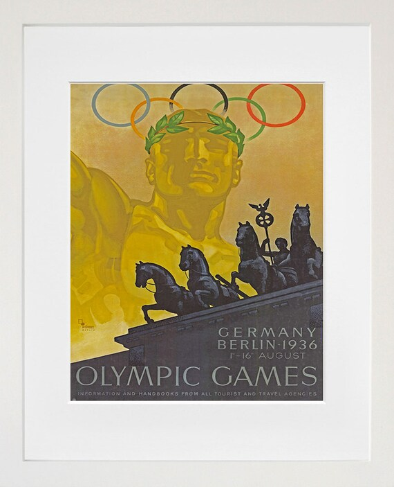 Sports Poster Germany Art Olympics Home Decor Print Tr71