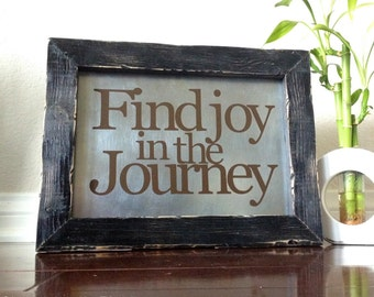 Find Joy in the Journey Wood Sign Sayings On Wood Distressed Wood Frame
