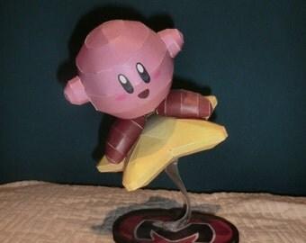 Handmade figure of Kirby.