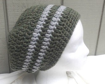 Crochet slouchy hat - Crocheted wool blend hat - Womens hat - Teens slouchy hat