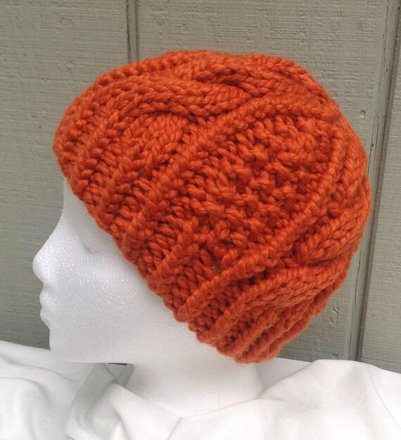 Bulky Knit Hat Pattern : Bulky knit beanie Chunky knit hat Chunky wool by LurayKnitwear
