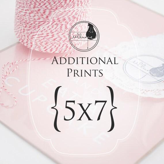Photo Designer To Add Artist: Order Add On Additional Print In 5x7 Inch Size...Custom
