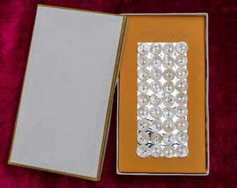 Box of 1 Gross of Mother of Pearl Buttons