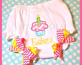 1st birthday diaper cover/bloomers