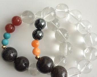 Multi-stone Bracelet Set