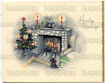Bl;ack Scottie Dog Terrier Christmas Card #152 Digital Download