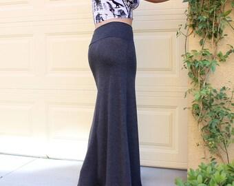 Sexy New Women Maxi Skirt Long Full Length Skirt High Waist Fold Over Solid Color Crop Fashion Summer  S M L