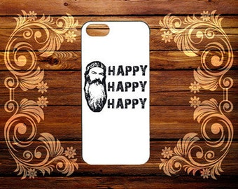 duck dynasty happy--iphone 5c iphone 5/5s iphone 4/4s hard rubber case