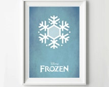 Disney Frozen Movie Poster - Minimalist Print, Digital Art Print