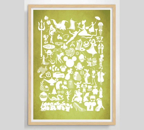 Custom Colour  Disney Movie Poster - Movie poster, Minimalist print, Digital Art Print