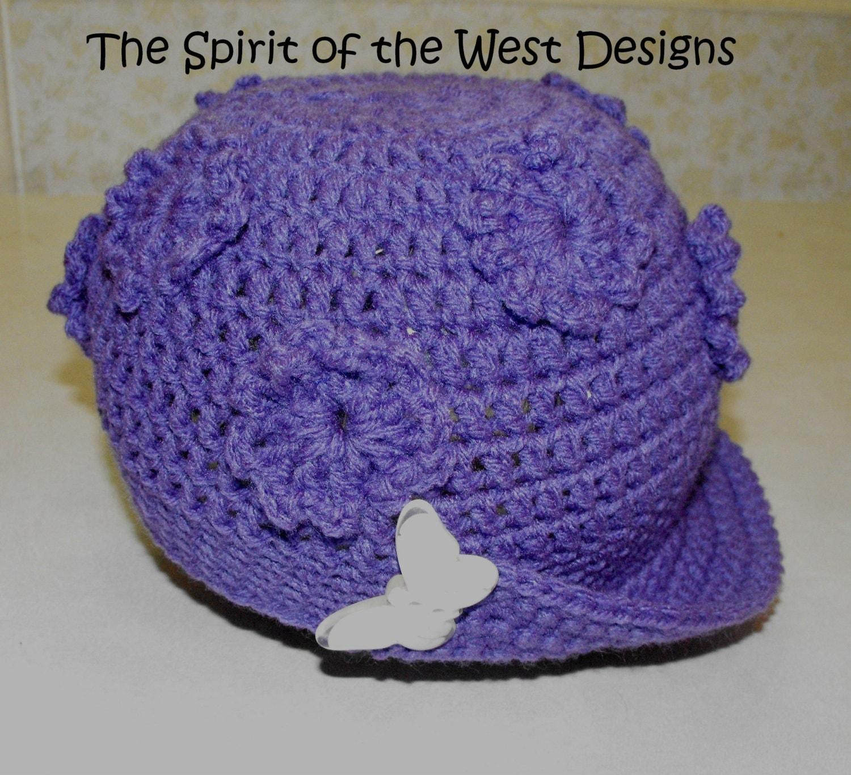 Childrens Sun Hat Crochet Pattern poppin flowers toque