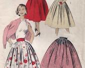 1950s Misses' Skirt, Advance Pattern 8108; Waist 26