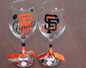 San Francisco Giants, Baseball, Sports Glassware, Go Giants!