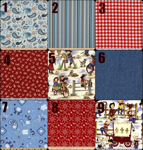 Items Similar To Cowboy Up Swatches Of Fabric For Baby