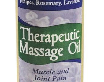 Therapeutic Massage Oil (4 oz) by Grampa's Garden