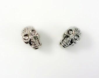 10 pcs  Large Hole Skull Beads   ,  Gothic Skull beads , Sugar Skull Beads For European Bracelet