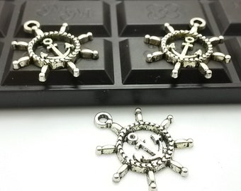 25 pcs   30 MM  X 18 mmAntique Silver  Anchor Charms    for  Anchor Bracelet Anchor Necklace anchor  Jewelry