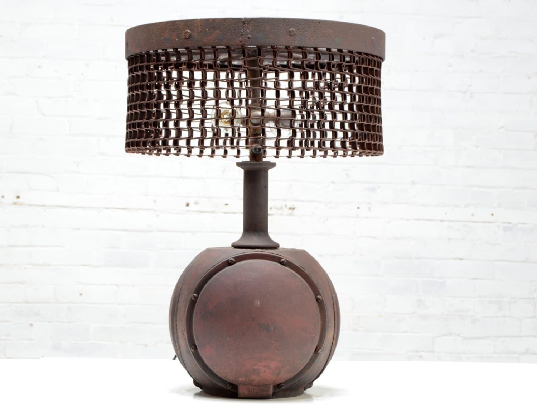 Table Lamp Industrial Lighting Antique Sculpture Art Form Desk Light steampunk buy now online