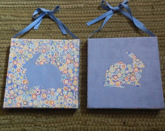 Adorable Set of Matching Cloth Bunny Pictures!