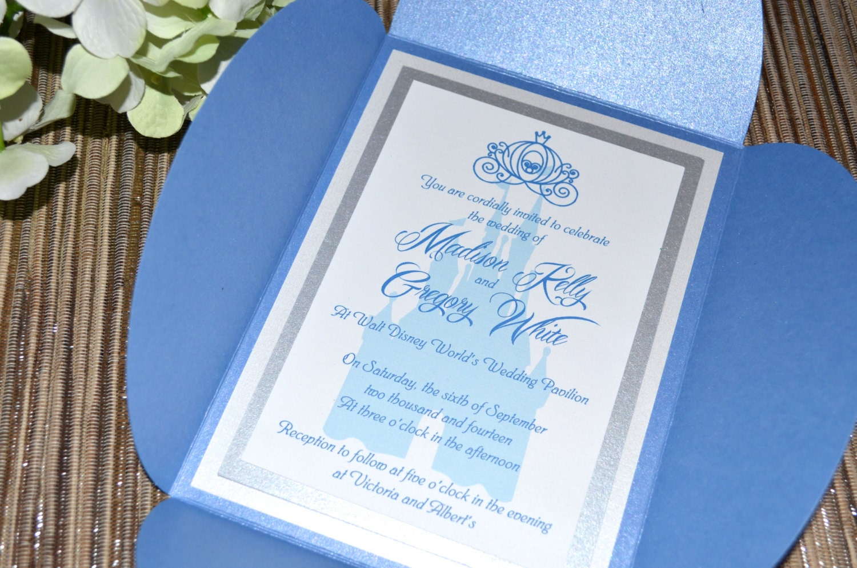 Fairy tale wedding invitations cinderella petal fold monicamarmolfo Images