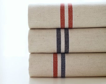 Simple Natural Striped Pattern Wide Width 15s Cotton Oxford Fabric AQ69