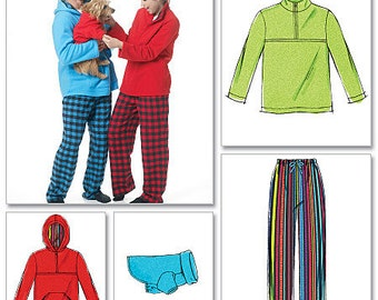 McCall's Sewing Pattern M6252 Misses'/Men's Jacket, Hoodies, Pants and Dog Coat